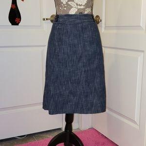 Denim look pencil skirt